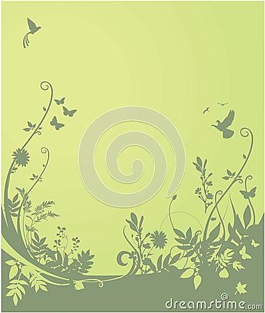 Flora und Faunahintergrund