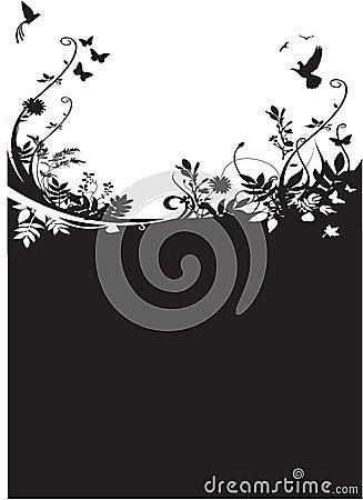 Flora y fondo de la fauna