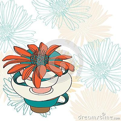 Floral κάρτα βαλεντίνων διακοπών