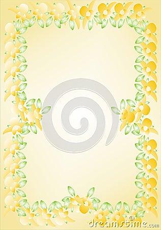 Floral πλαίσιο