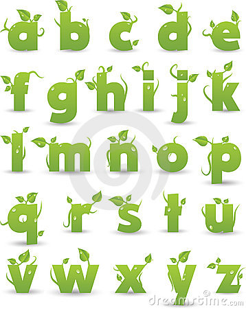 Floral πράσινος αλφάβητου
