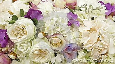 Floral υπόβαθρο στον τοίχο απόθεμα βίντεο