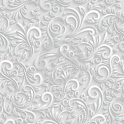 Free Floral 3d Seamless Background Royalty Free Stock Photo - 47505105