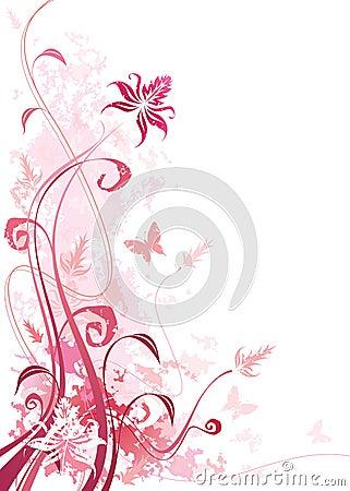 Floral ροζ