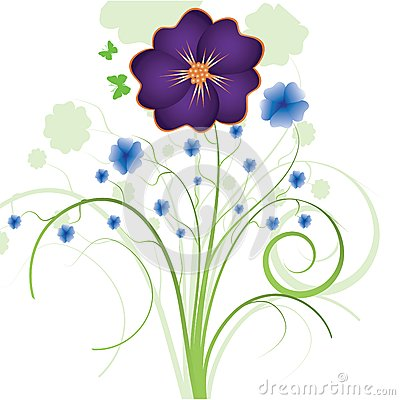 Floral Abstract Background Royalty Free Stock Photos - Image: 24545528