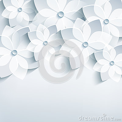 Free Floral Abstract Background, 3d Stylized Flowers Sa Stock Image - 39428531
