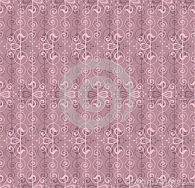 Floral abstract lacy seamless pattern