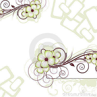 Floral abstraction. Vector illustration for desig