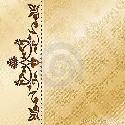 Free Floral Arabesque Background In Sepia Tones Stock Photo - 21294180