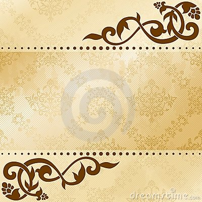 Free Floral Arabesque Background In Sepia Tones Stock Photos - 21294183