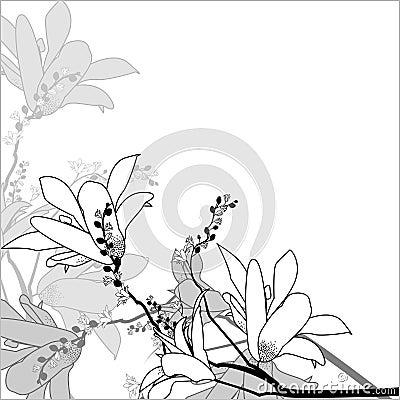 Floral arrangement in a square