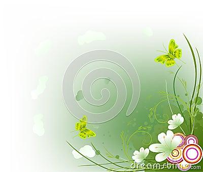 Floral  artistic design background