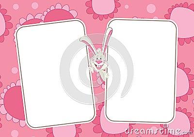 Floral baby frame
