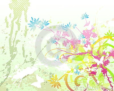 Floral background 05