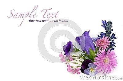 Floral background corner element