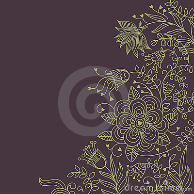 Floral background in dark colours