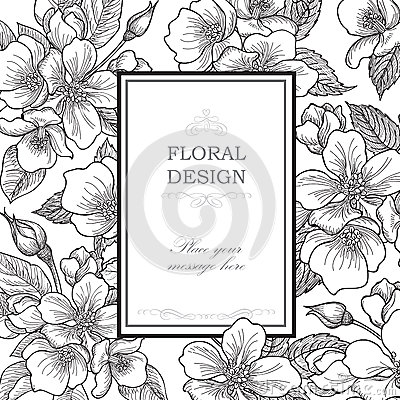 Free Floral Background. Flower Bouquet Vintage Cover. Flourish Card W Royalty Free Stock Photography - 55976067