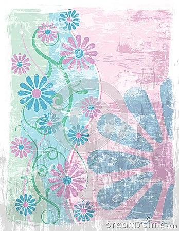 Floral Background Grunge