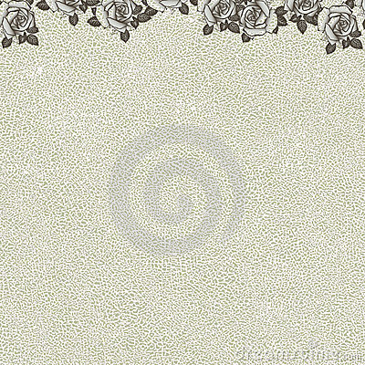 Floral background with grunge texture