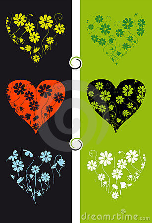 Floral background, heart