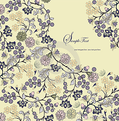 Floral background,invitation card
