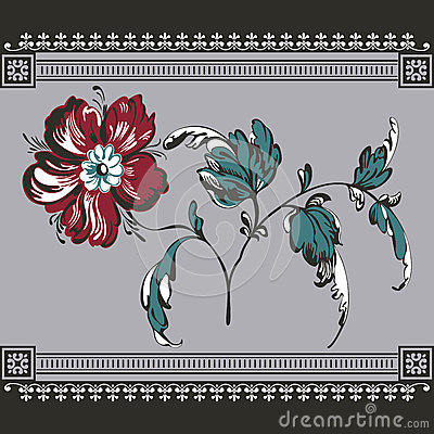 Free Floral Background, Lace Border Stock Image - 47331601