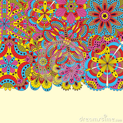 Free Floral Background Made Of Many Mandalas. Good For Weddings, Invitation Cards, Birthdays, Etc. Creative Hand Drawn Elements. Vector Royalty Free Stock Image - 68281356
