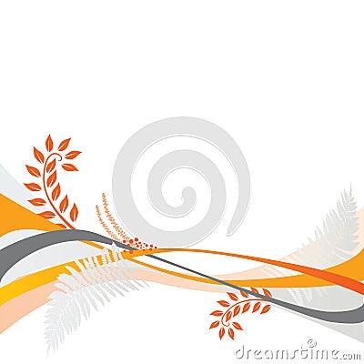 Floral background motif