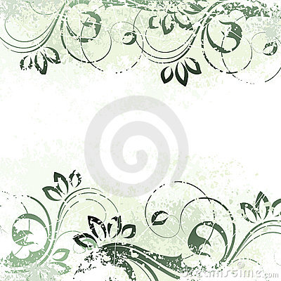 Floral background motif