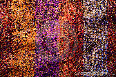 Floral background of natural colorful fabric