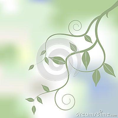 Floral background, ornament, leaves