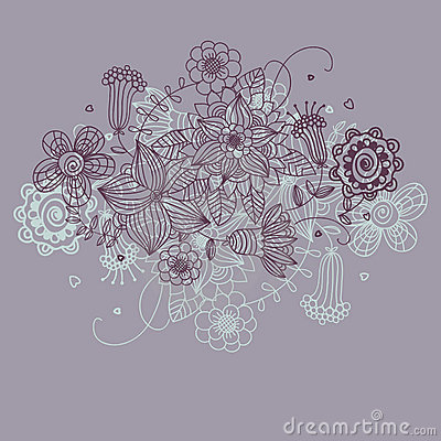 Floral background in purpure colours
