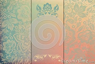 Floral background template vector/illustration