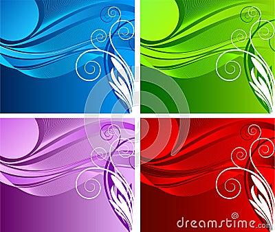 Floral  background  vector design