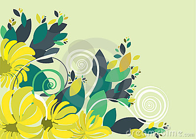 Floral background in vibrant colorful shades