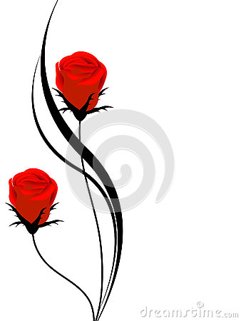 Free Floral Background With Red Roses, Design Element. Stock Photos - 75281843
