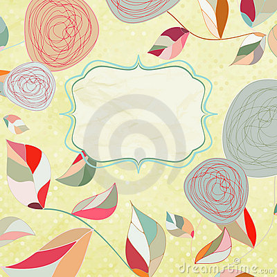 Floral backgrounds with vintage roses.