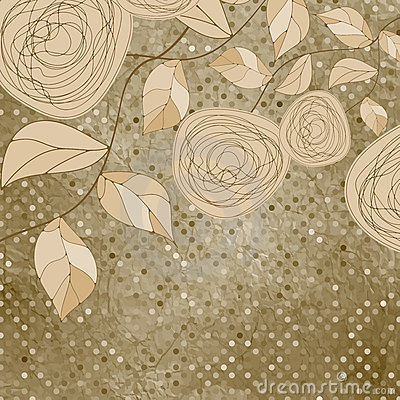 Free Floral Backgrounds With Vintage Roses. EPS 8 Stock Image - 21664081