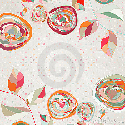 Free Floral Backgrounds With Vintage Roses. EPS 8 Stock Photo - 23147990