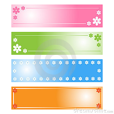 Free Floral Banners Stock Photo - 13482000