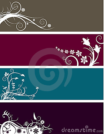 Floral banners