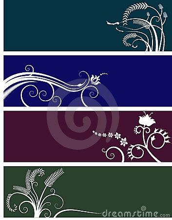 Floral banners choice