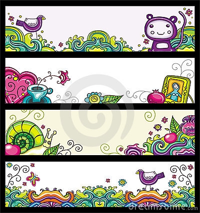 Free Floral Banners (floral Series) Stock Images - 14577524