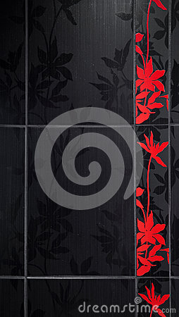 Floral bathroom tiles
