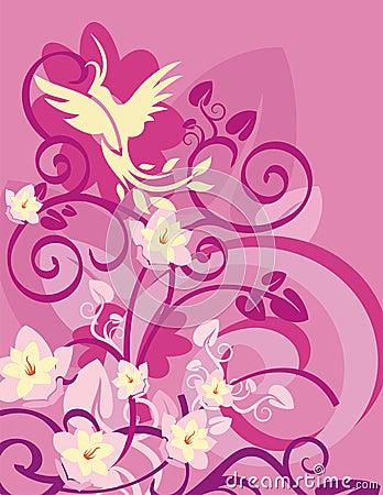 Floral Bird Background Series