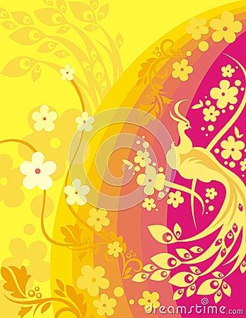 Free Floral Bird Background Series Stock Photos - 1049983