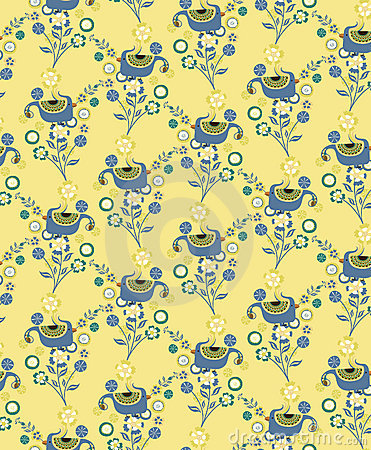 Floral and Bird Pattern