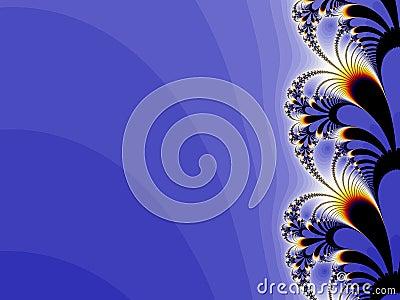 Floral blue background design