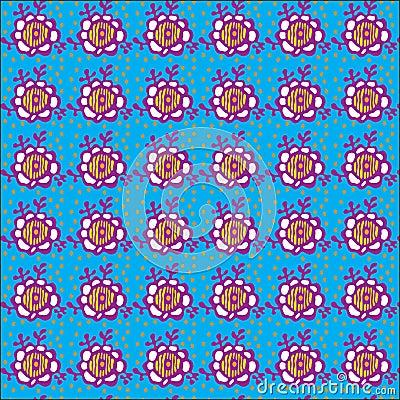 Floral blue pattern