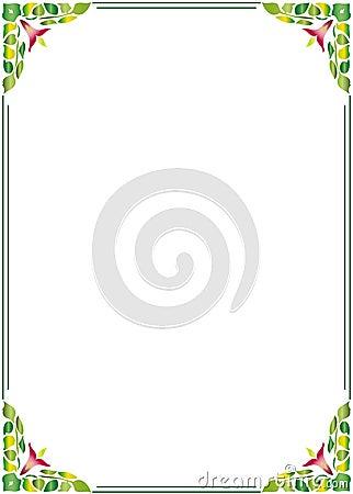 Floral border frame